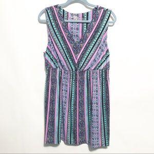 Soma Printed Soft Lounge Dress XL Smocked Waist